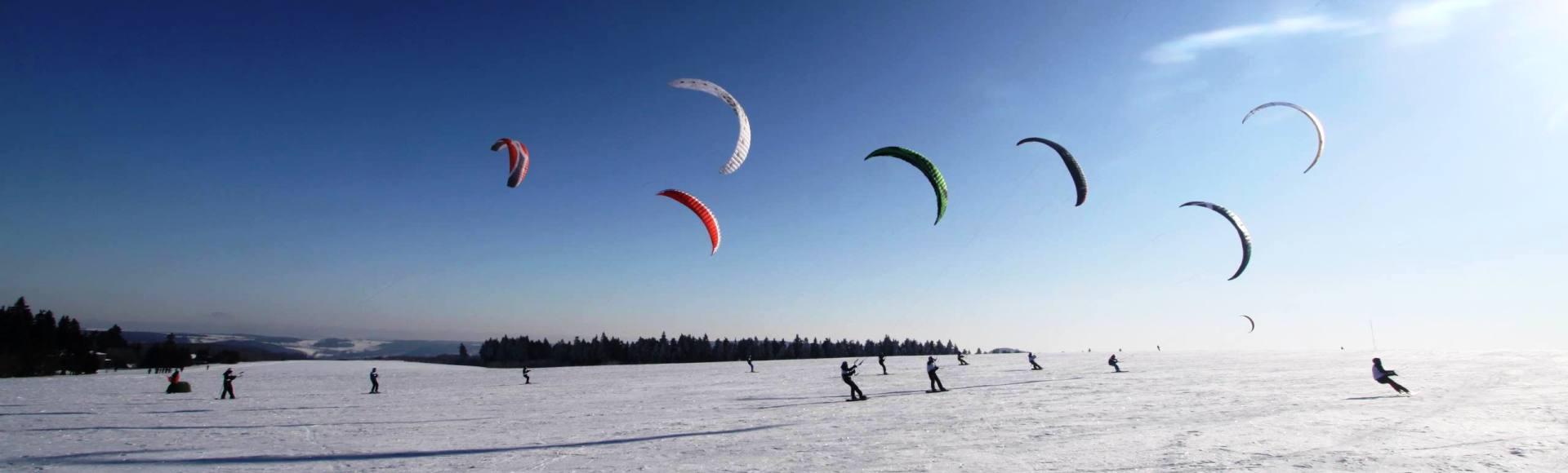 Snow Kiten auf der Wasserkuppe und...