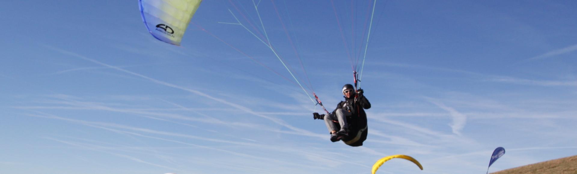 Paragliding auf der Wasserkuppe und...