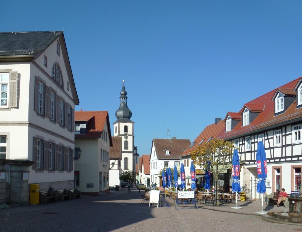 Biergarten und Café Stimmung in GErsfeld Rhön
